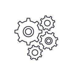 gear wheel line icon concept gear wheel vector image