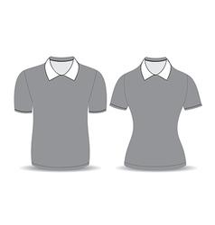 Gray polo shirt outline vector