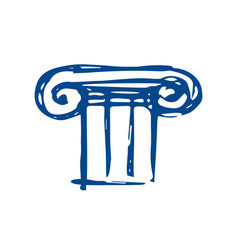 Greek architecture is a column sketch vector