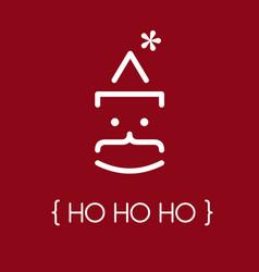 Ho ho ho text concept vector