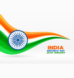 India republic day modern background with wave vector
