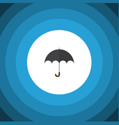 Isolated umbrella flat icon parasol vector