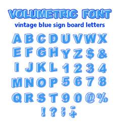 Isometric or volumetric vintage alphabet font vector