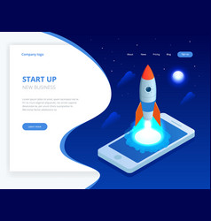 Isometric start up concept income and success vector