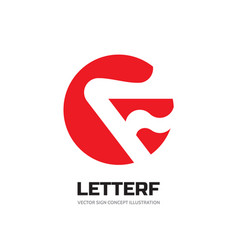 letter f in circle - business logo template vector image
