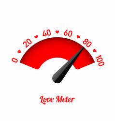 Love meter valentines day card design element vector