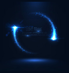 magic frame consist of glowing particles vector image