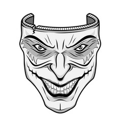 Mask joker 0001 vector