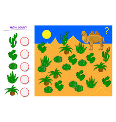 Math education for young children help camel vector