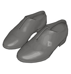 model a shoes on white background vector image