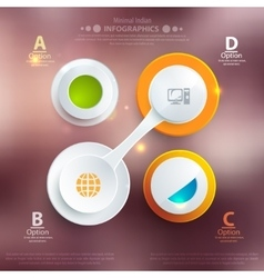 Modern business template style Web infographic vector image