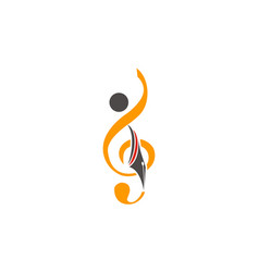 Music education logo design template vector