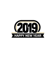 new year unusual label 2019 year symbol vector image