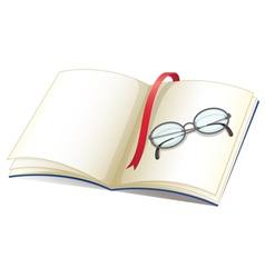 Notebook and glasses vector