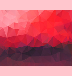 polygon background red and dark purple horizontal vector image