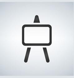 presentation icon presentation board icon vector image