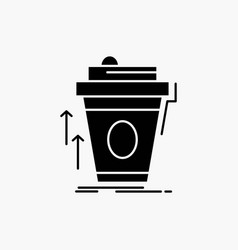 Product promo coffee cup brand marketing glyph vector