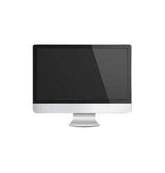 realistic modern silver computer monitor mockup vector image