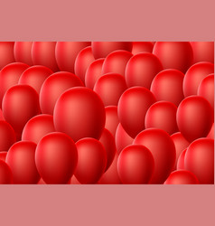 red balloon background vector image