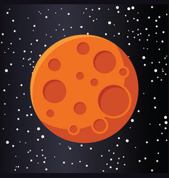 Red planet mars in space vector