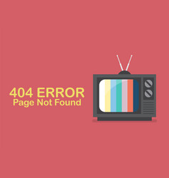 Retro television with word page not found vector