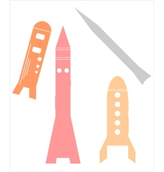 Rocket Ships on white vector image