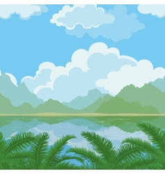 Seamless landscape sea and plants vector image vector image