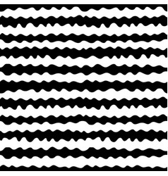 seamless pattern hand drawn horizontal wavy lines vector image vector image