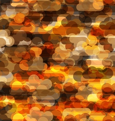 Seamless pattern wth transparent clouds in warm vector image