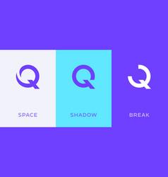 set letter q minimal logo icon design template vector image