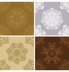 Set of seamless vintage pattern vector image