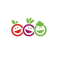 Smile fruits icon vector image