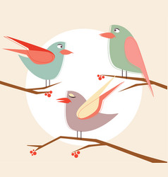 stock cute birds in cartoon set vector image