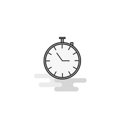 stop watch web icon flat line filled gray icon vector image
