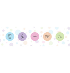 Summer icons vector