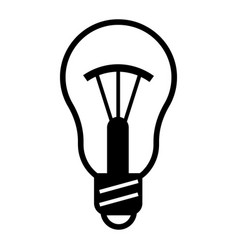traditional bulb icon simple style vector image