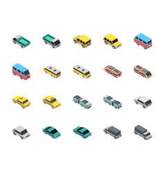 Transportation flat icons vector