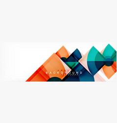 trendy circles composition geometric background vector image