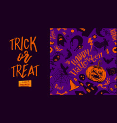Trick or treat and pattern vector