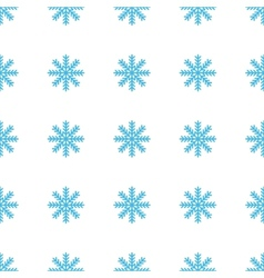 Unique Snowflake seamless pattern vector image