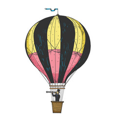 vintage air balloon engraving vector image