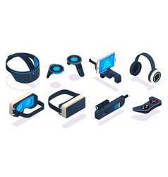 Virtual reality gaming equipment digital device vector
