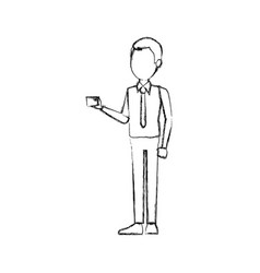 Young man employee worker people staff vector