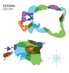 Abstract color map of Estonia vector image