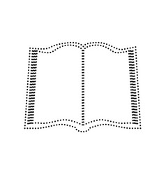 book sign black dotted icon on white vector image vector image