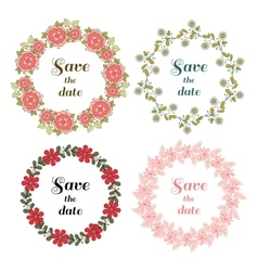 Floral Wreaths Set Original vector image vector image