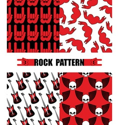 Rock pattern Set seamless patterns theme of rock vector image