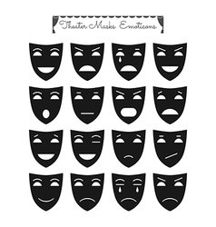 Theatrical masks emoticons vector image