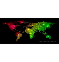 world map communication vector image vector image