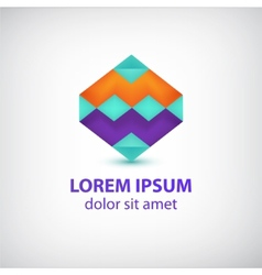 abstract colorful geometric logo vector image vector image